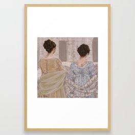 Regency Girls Framed Art Print