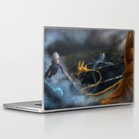jack frost Laptop & iPad Skins featuring Jack Frost and Sandman by Luz Tapia Art