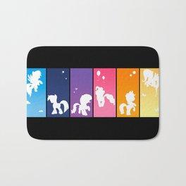 Rainbow Ponies Bath Mat