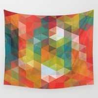 transparent Wall Tapestries featuring Transparent Cubism by All Is One