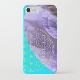 Mystical Flower of Life Amethyst #society6 iPhone Case