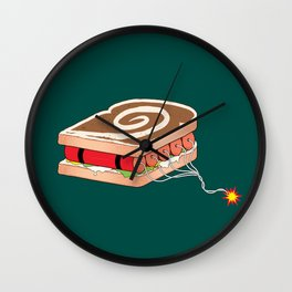 Dynamite Sandwich Wall Clock