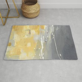50 Shades of Grey and Yellow Rug