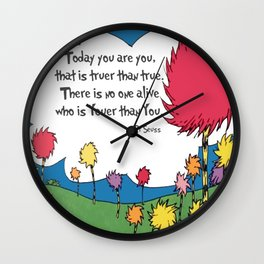 Lorax Quote Wall Clock