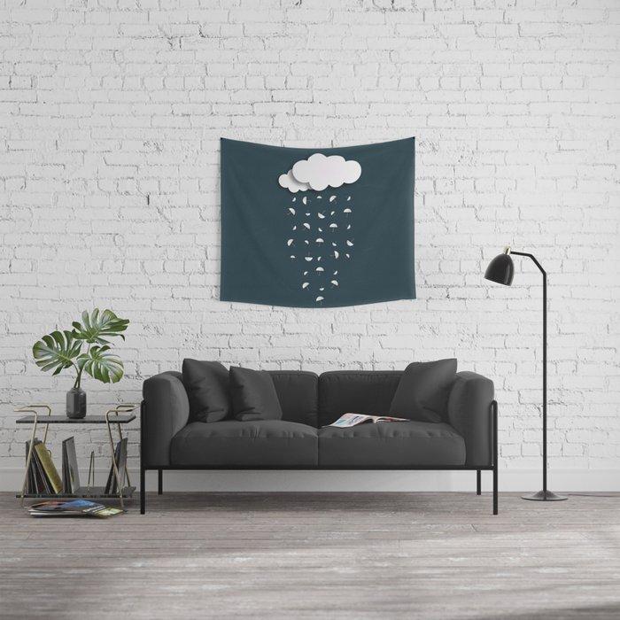 It's raining umbrellas Wall Tapestry