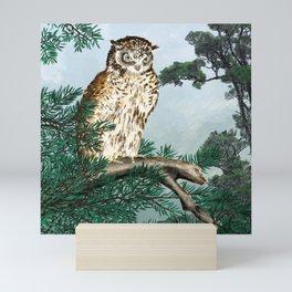 Japanese Scops Owl Mini Art Print