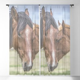 Mother and son Sheer Curtain