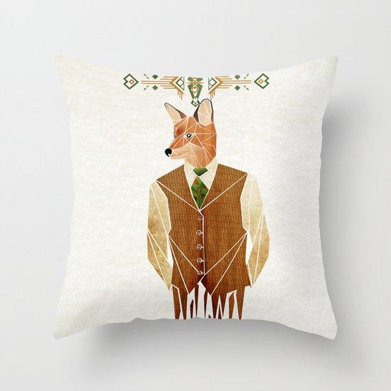 mister fox Throw Pillow