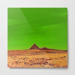 Orange Pyramid in Nevada? Metal Print