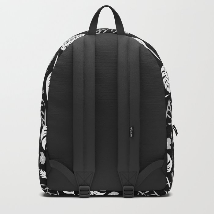 Autumn leaves pattern black Backpack