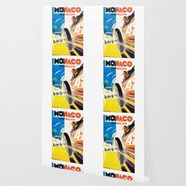 Grand Prix Monaco, 1931, vintage poster Wallpaper