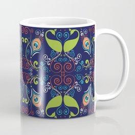Peacock Nouveau Coffee Mug
