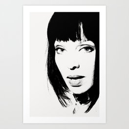Nina Portrait BW Art Print