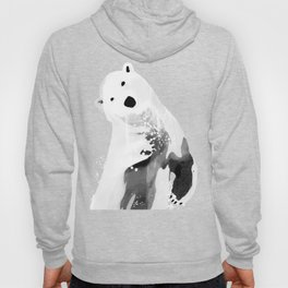 Unique Black and White Polar Bear Design Hoody