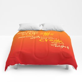 Croak-Orange Comforters