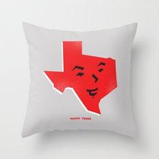 Happy Texas Throw Pillow