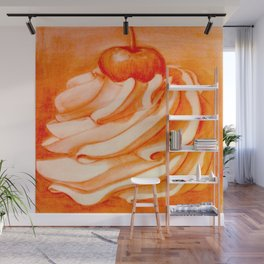 Whip Cream with a Cherry on Top Wall Mural