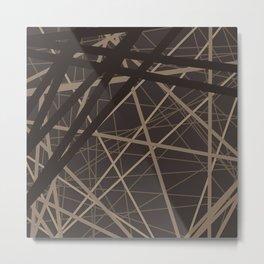 Abstract brown . Line . Metal Print