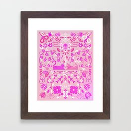 Kitten Lovers – Pink Ombré Framed Art Print
