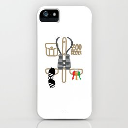 Zoo Keeper T Shirt Zoologist Costume Kids Animal Gift iPhone Case