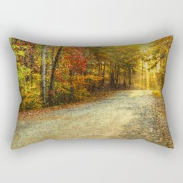 Autumns Path Rectangular Pillow