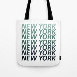 New York Green Haze Tote Bag