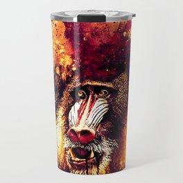 baboon monkey wsls Travel Mug