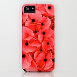 Veterans | Memorial Day | Remembrance Day | We Remember | Red Poppies | Nadia Bonello iPhone Case