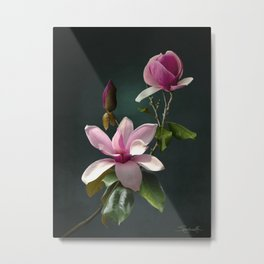 Spade's Pink Magnolias Metal Print