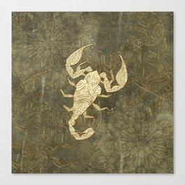 Beautiful scorpion mandala Canvas Print