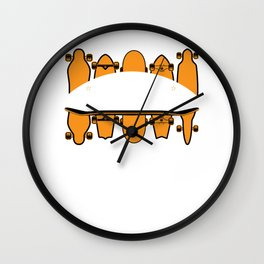 Skateboarding Life is Full of Important Choices Skateboards product Wall Clock