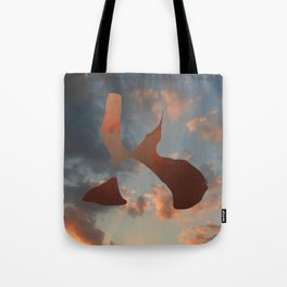 The woman and the flight Tote Bag