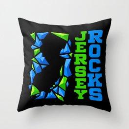 Jersey Rocks Throw Pillow