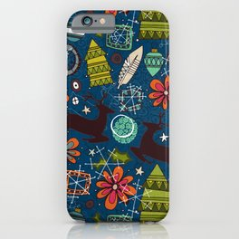joyous jumble indigo iPhone Case