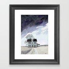House under the Starry Skies Framed Art Print