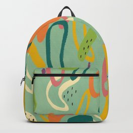 Abstract Summer Citrus Pattern Backpack