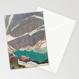 Mountain Solitude, Lake Oesa by James Edward Hervey MacDonald - Canada, Canadian Oil Painting - Grou Stationery Cards
