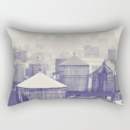 foggy memories of nyc... Rectangular Pillow