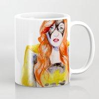 batgirl Mugs featuring BATGIRL by Clementine Petrova