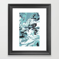 Woman Holding Sky with Dragons Framed Art Print