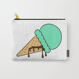 Mint Ice Cream Carry-All Pouch