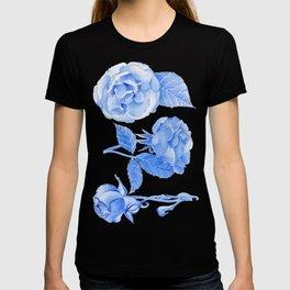 Blue Roses Watercolor T-shirt