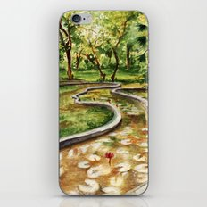 Autumn Pond iPhone & iPod Skin