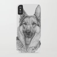 german iPhone & iPod Cases featuring German shephard by Doggyshop