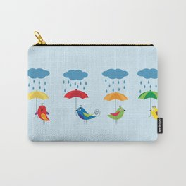 Birds with umbrellas Carry-All Pouch