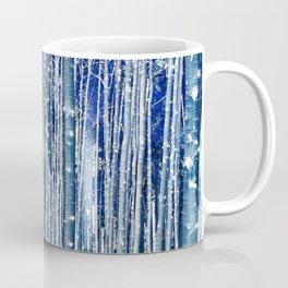 Aspen Trunks Variation No. 2 in Blue Coffee Mug