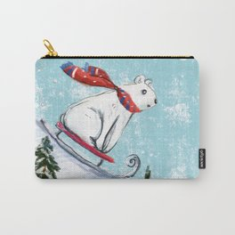 Sledding bear Carry-All Pouch