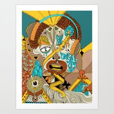 The drawing that accompanies the sound. Art Print