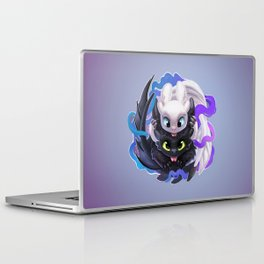 Dragon Black White Laptop & iPad Skin