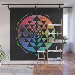 Maverick Rainbow Sri Yantra Wall Mural